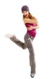 El bailarín en un fondo blanco Imagen de archivo libre de regalías