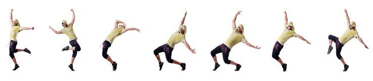 El bailarín muscular aislado en blanco fotografía de archivo libre de regalías