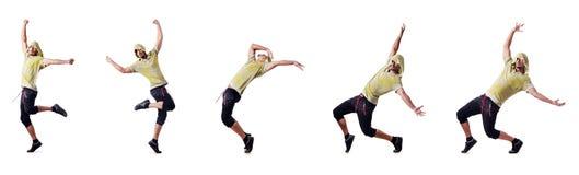 El bailarín muscular aislado en blanco fotos de archivo libres de regalías