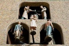 El baile astronómico del reloj figura - Olomouc - la República Checa Imagenes de archivo