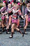 El baile chino del miao Imagen de archivo