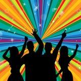 El baile del disco indica la discoteca Joy And Parties Fotos de archivo libres de regalías
