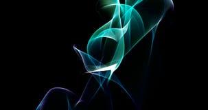 El baile enciende el clip rendido partícula de la introducción del fondo de la aurora 4k en azul