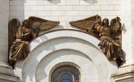 El bajorrelieve del templo de Cristo el salvador en Moscú Fotos de archivo libres de regalías
