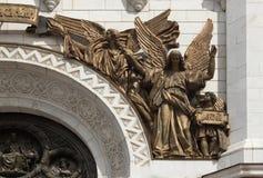 El bajorrelieve del templo de Cristo el salvador en Moscú Fotos de archivo