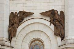 El bajorrelieve del templo de Cristo el salvador en Moscú Foto de archivo