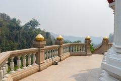 El balcón con Mountain View Imagen de archivo libre de regalías