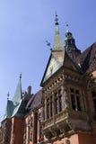 El balcón en el castillo viejo Fotografía de archivo