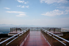 El balcón ve la visión en el parque de Meamoh, Tailandia Imagenes de archivo