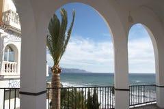 El Balcon de Europa en Nerja Andalucía España Imagenes de archivo