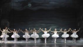 El ballet del lago swan se realizó por el ballet real ruso Imagenes de archivo