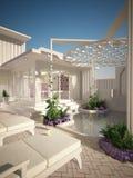 El balneario blanco al aire libre Fotos de archivo libres de regalías