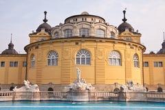 El balneario de Szechenyi en Budapest Foto de archivo libre de regalías