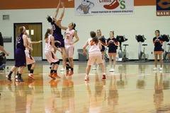 El baloncesto de las mujeres del NCAA Fotografía de archivo libre de regalías