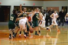 El baloncesto de las mujeres del NCAA Imágenes de archivo libres de regalías