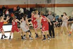 El baloncesto de las mujeres del NCAA Imagen de archivo libre de regalías