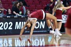 2015 el baloncesto de las mujeres del NCAA - templo contra el estado de Delaware Imagenes de archivo