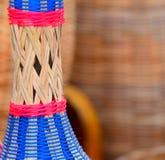 El bambú hizo la fotografía del objeto de las artesanías Fotografía de archivo