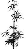 El bambú pintado a mano chino antiguo tradicional libre illustration