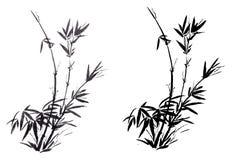 El bambú pintado a mano chino antiguo tradicional fotografía de archivo libre de regalías