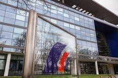 El banco alemán de Postbank firma adentro Bonn Alemania imágenes de archivo libres de regalías