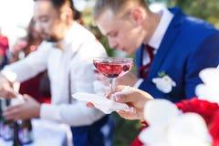 El banquete de la boda Imágenes de archivo libres de regalías