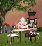El banquete enojado del sombrerero libre illustration