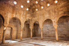 El Banuelo in Granada, Spain. El Bañuelo, arabic public baths of the eleventh century in Granada, Spain Stock Photos