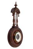 El barómetro de madera del vintage Fotografía de archivo
