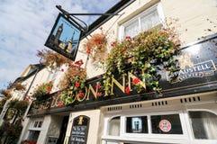 El bar del mesón de Londres, Padstow, Cornualles Fotografía de archivo