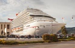 El barco de cruceros más nuevo del carnaval Fotografía de archivo libre de regalías