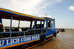 El barco de Mekong del río Imagen de archivo