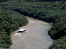 El barco de río viaja río de Wailua fotografía de archivo