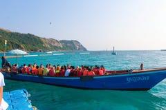 El barco dispara vacaciones Fotografía de archivo