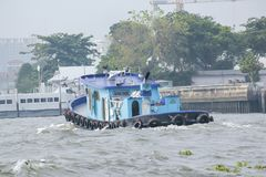 El barco en Chao Phraya River imagen de archivo libre de regalías