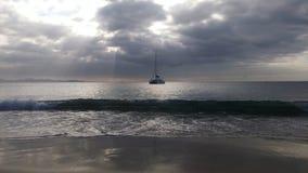 El barco y el infinito Fotografía de archivo