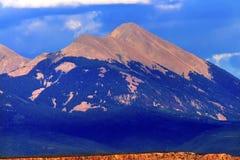 El barranco de la roca de las montañas de Salle del La arquea el parque nacional Moab Utah Imagen de archivo libre de regalías