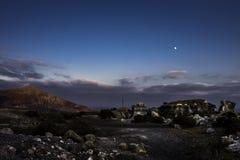 El Barranco de Tenegà ¼ime vid natt Arkivfoto