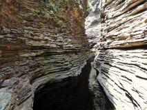 El barranco del río en Chapada Diamantina, el Brasil Foto de archivo