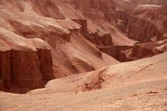El barranco llameante de la montaña Foto de archivo libre de regalías