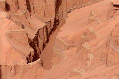 El barranco llameante de la montaña Fotografía de archivo libre de regalías