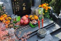 El barrer chino de la tumba Imagen de archivo libre de regalías
