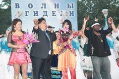 El bashkir en un traje nacional República de Bashkortostan Rusia Fotografía de archivo