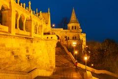 El bastión del stya o del pescador del ¡del szbà del ¡de Halà en Budapest, Hungría Foto de archivo libre de regalías