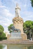 El Batallador雕象在重创的Parque的 库存图片