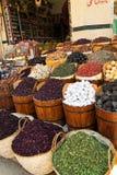 el bazar de Aswan en Egipto. Imagen de archivo libre de regalías