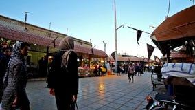 El bazar magnífico de Ganjali Khan en Irán almacen de video