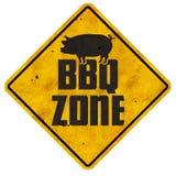 El Bbq divide el cerdo retro del patio trasero en zonas del vintage del área de la parrilla de la barbacoa de la muestra imágenes de archivo libres de regalías