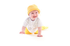 El bebé aprende arrastrarse imagen de archivo libre de regalías