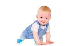 El bebé aprende arrastrarse Imágenes de archivo libres de regalías